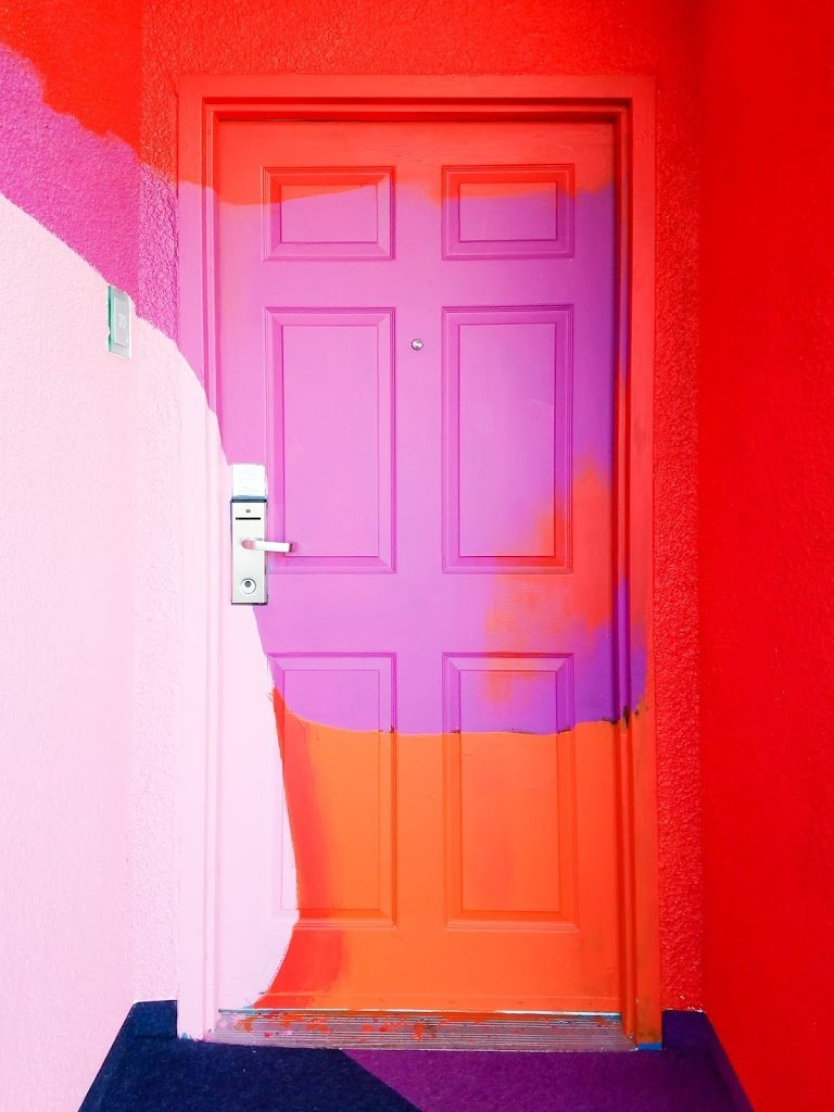 The Kinney Venice Beach Hotel in Venice, California colorful door