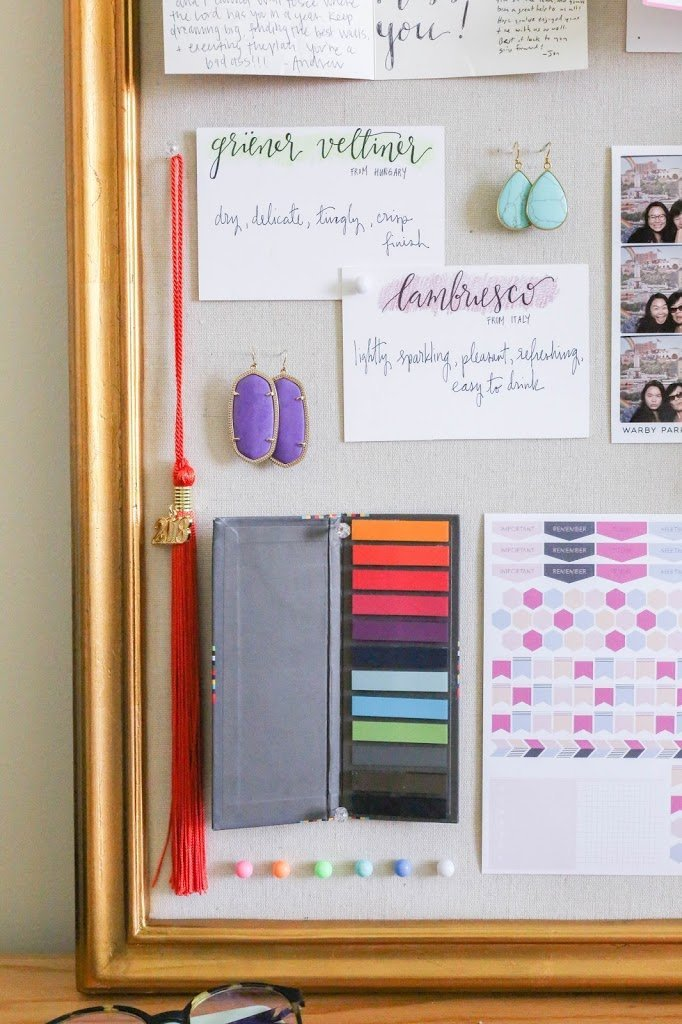 How to Decorate a Pinboard | The Bella Insider